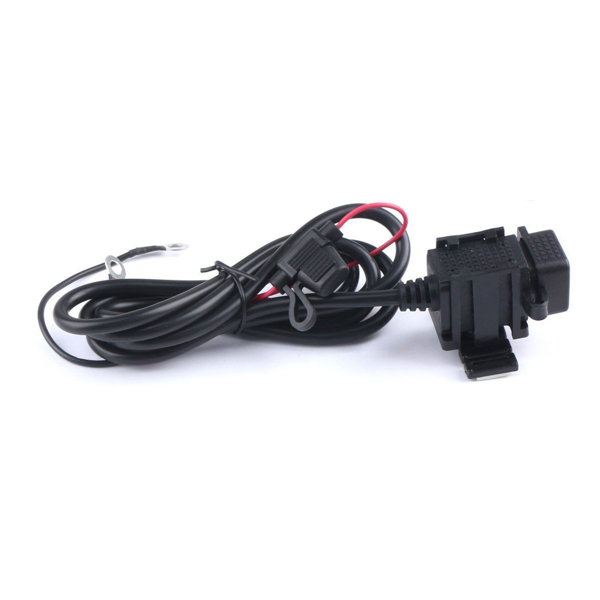 Waterproof Dual USB Charger Motorcycle Cell-Phone Charging Port 12V to 5V/2.1A Power Adapter