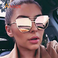 Aimade 2016 Marca Designer Cat Eye Óculos De Sol Das Mulheres Do Vintage Moda Gothic Espelho Cateye Retro Feminino óculos de Sol Óculos UV400