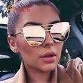 Aimade 2016 Primera Marca Vintage Gótico Cateye Ojo de Gato gafas de Sol de Las Mujeres de Moda Femenina Espejo Retro Gafas de Sol Oculos UV400