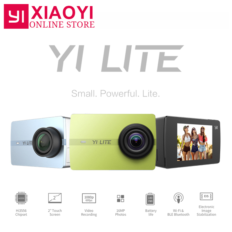 YI Lite Action Camera 16MP Real 4K Sports Camera Bluetooth WIFI 2 Touch LCD Screen EIS