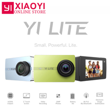 YI Lite Action Camera 16MP Real 4K Sports Camera Bluetooth WIFI 2″ Touch LCD Screen EIS 150 Degree Lens International Edition