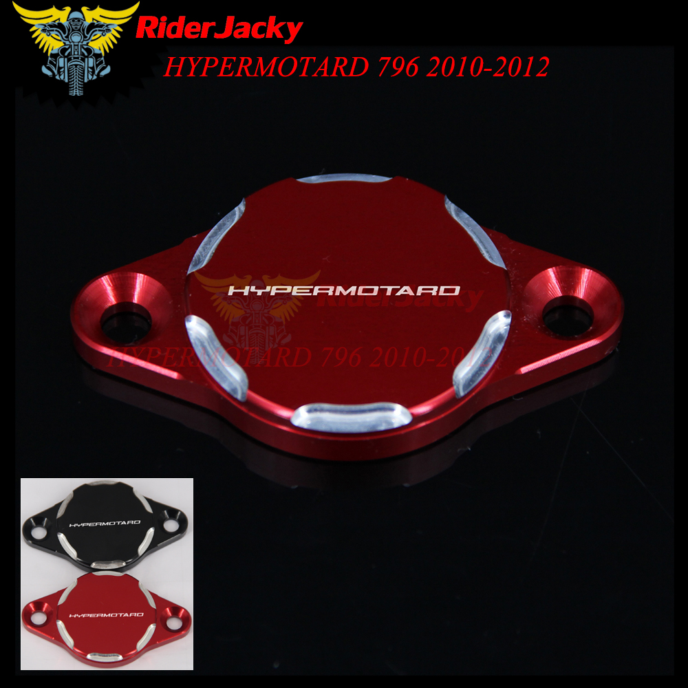 RiderJacky Black Red CNC Motorcycle Engine Oil Filter Cover Cap For Ducati HYPERMOTARD 796 2010-2012 2011