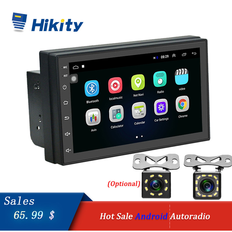 "Hikity Android Car radio 2 Din 7"" Multimedia Video Player Universal auto Stereo GPS Navigation MAP Wifi USB FM OBD Car Audio"
