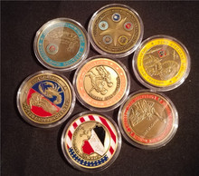 7pcs American Iraq War Military Commemorative Coin  Gift Coin For Friends Home Decoration цена