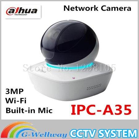 Dahua Built-in Mic & Speaker HD PT 3MP Wi-Fi Network Camera dahua baby monitor IPC-A35,free Shipping in stock dahua ipc k200wn 2mp ip66 hd cube network camera