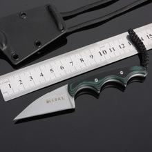 Fixed Blade Knife Mini Pocket Necklace Survival Knives Hunting Tactical Knifes With ABS Sheath Wood Handle Camping Outdoor Tools