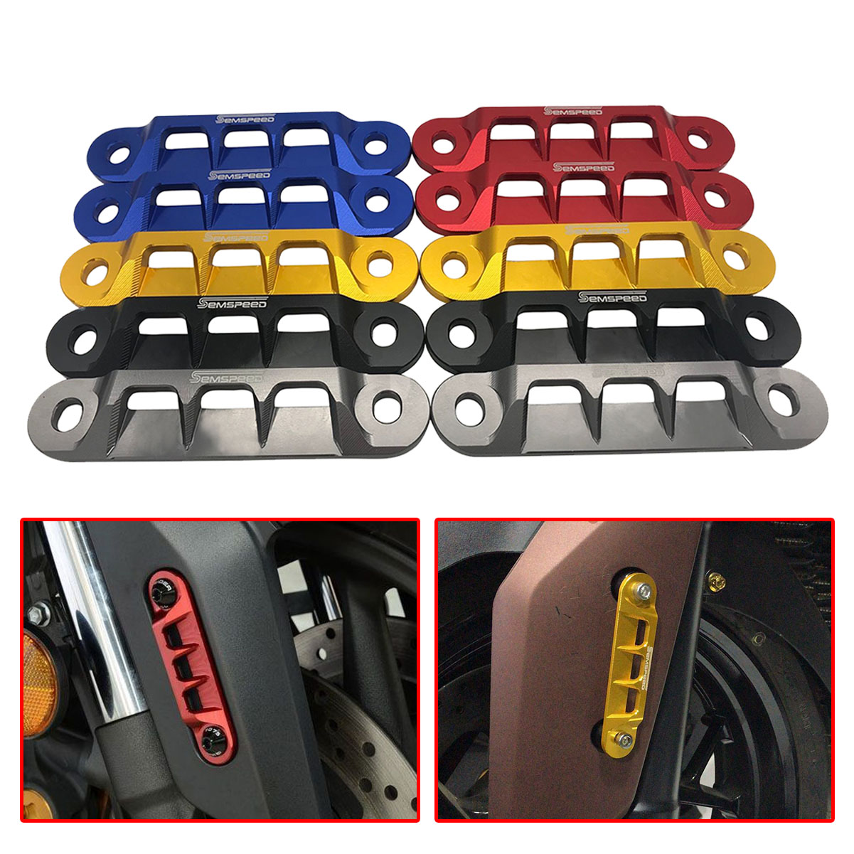 CNC Front Axle Coper Plate Decorative Cover for Yamaha XMAX X MAX 300 2017 2018