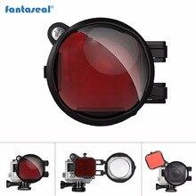Fantaseal 2-в-1 Дайвинг объектив комбо для GoPro фильтр, красный коррекция фильтр + 16X закрыть макрообъектив фильтр для Герой 4 3 + 3