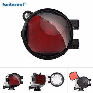 Fantaseal 2in1 Diving Lens Filter for GoPro Hero 4 3+ 3 Red Correction Filter+16X Close Up Macro Lens for Gopro 4 Action Camera