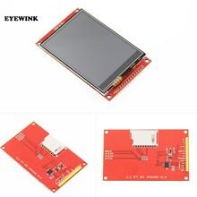 Módulo de 3.2 polegadas tft lcd com painel de toque ili9341 drive ic 240 (rgb) * 320 spi interface (9 io) 240*320 toque ic xpt2046 spi porto