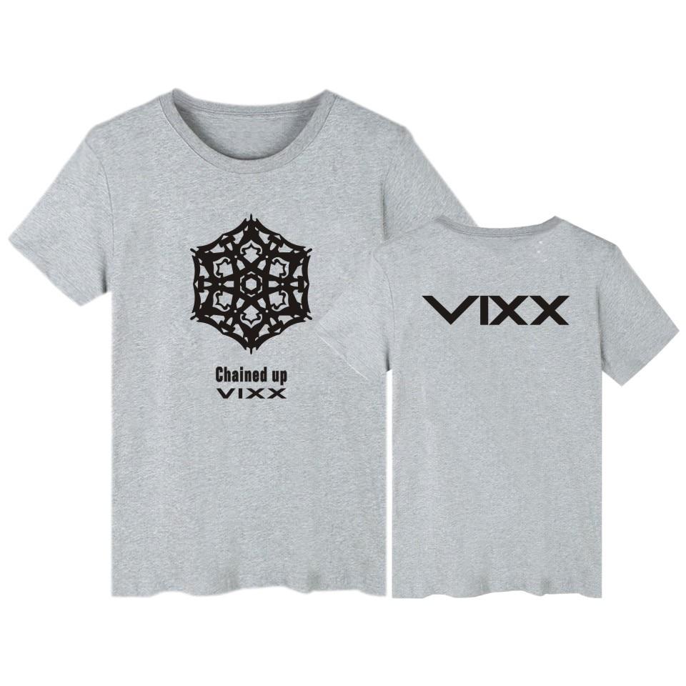 Kpop Vixx t-särk Summer tops new fashion VIXX riided Tahke - Meeste riided - Foto 6