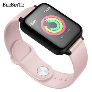 Image 2 - Смарт Браслет фитнес часы умный Браслет кровяное давление измерение сердечного ритма Водонепроницаемая повязка на руку большой цветной сенсорный