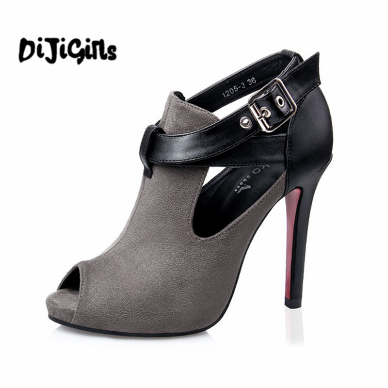 Spring Summer Women Pumps Fashion New Belt Buckle Open Toe Sandal High Heels Shoes Heeled Nightclub Sexy Female Shoes 2016 spring new fashion women hot sale nightclub sexy fine with platform high heeled shoes ol shoes baok 8e36