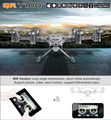 Walkera QR Y100 FPV Wi-fi Em Tempo Real Video Aircraft UFO RC Quadcopter Drone Helicóptero com Motor Brushless Câmera DO COI 6-Axis