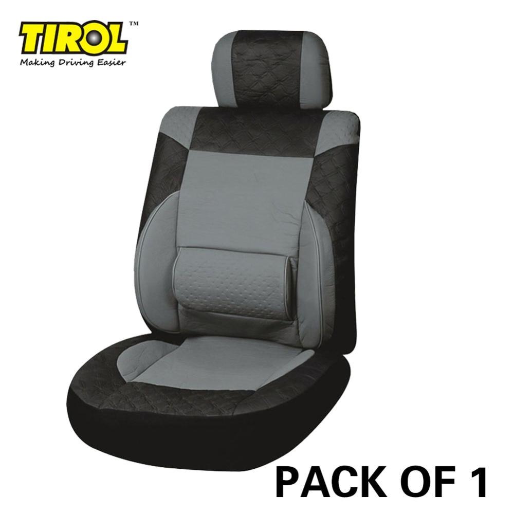 TIROL PACK 1 Новый универсальный кожаный автомобилей спереди один Чехлы для Кроссоверы седанов Черный, серый цвет T23061b