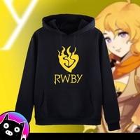 Anime hoodie New RWBY Hoodie Ruby Rose Anime Coat Jacket Winter Men