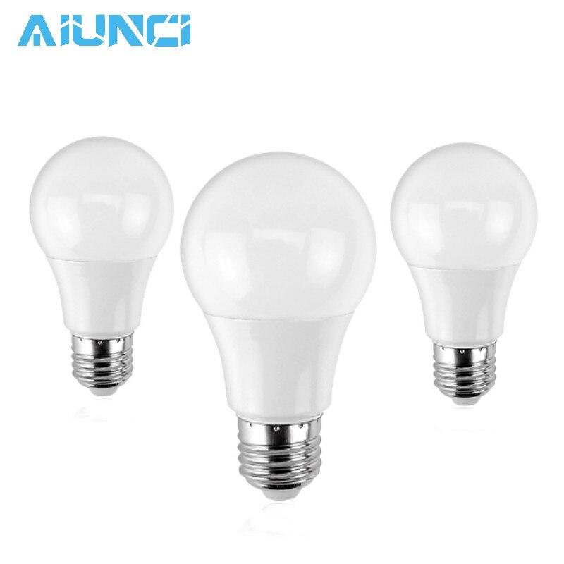 LED Bulb Lamps E14 E27 220V Light Bulb Smart IC Real Power 3W 5W 7W 9W 12W 15W High Brightness Lampada LED Bombillas SMD2835