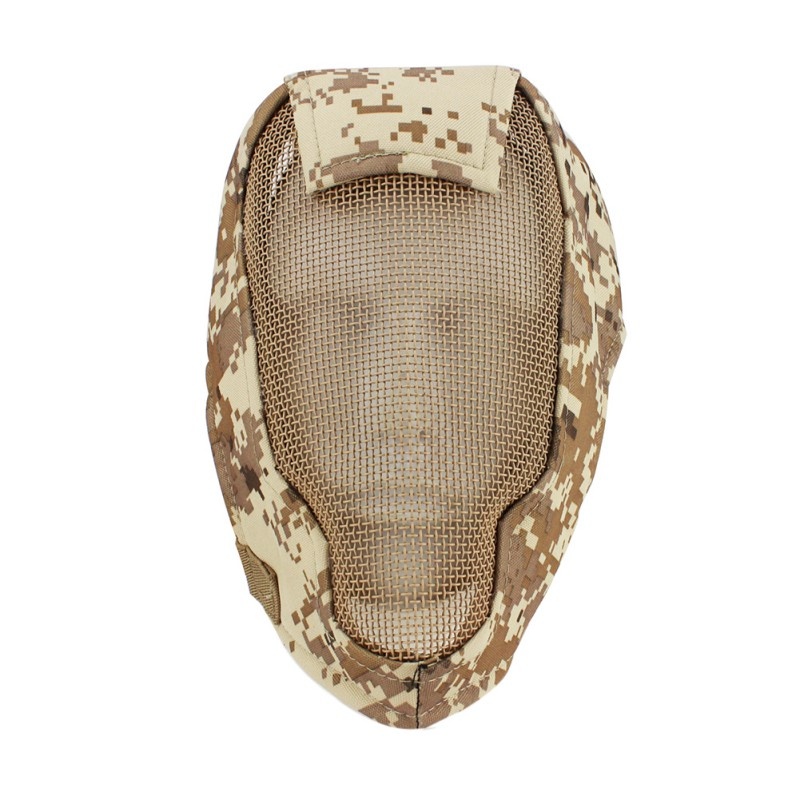 Tactical Full Face Mask Metal Net Mesh Military Cover Slingshot For Army Outdoor Paintball Cosplay Gun Game Airsoft Accessories