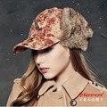 Kenmont Женщин Леди Осень Зима Теплая Искусственного Меха Открытый Козырек Шляпа Earflap Бейсбол Cap 2271