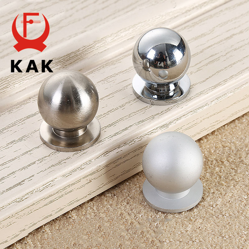 KAK 2.3X2.5CM Aluminium alloy solid Cabinet Drawer Knobs Simple Wardrobe Door Pull Circle Handles Modern Furniture Hardware css clear crystal glass cabinet drawer door knobs handles 30mm