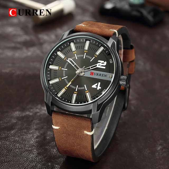 CURREN Men's Luxury Military Male Quartz Watches 4