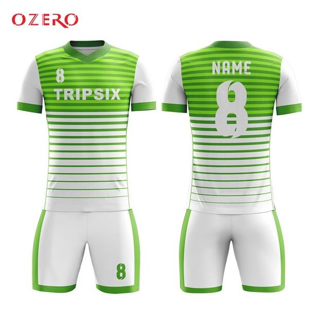 89b02b32ad02d custom men's soccer uniforms set full sublimation printing personalized  football jerseys voetbal shits