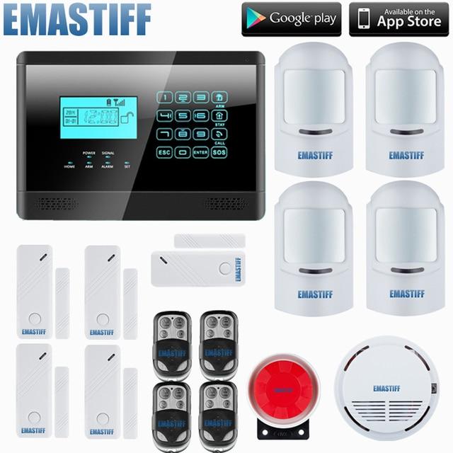 HOMSECURITY DIY Wirelessu0026 Wired GSM Home Security Burglar Alarm System Kit  With SOS Intercom,4