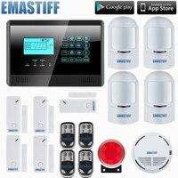 HOMSECURITY DIY Wireless& Wired GSM Home Security Burglar Alarm System Kit With SOS Intercom,4 pet immune motion PIR