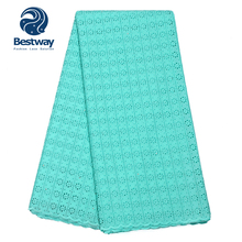 Bestway Swiss Lace In Switzerland Fabric Soft Cotton Pure Single Color Lace Fabric For African Women/Women's Dress Party Lace