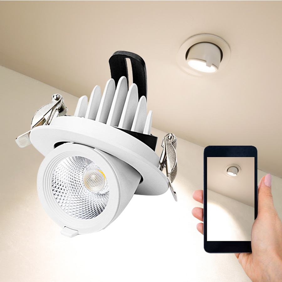 Dimmable LED Spotlights Elephant Nose Lamp Embedded Ceiling COB Downlight Living Room Aisle Clothing Store Lighting Fixtures