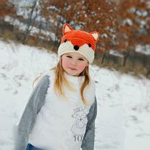 Kocotree czapki zimowe dziecięce śliczne zwierząt dzianiny czapka dla chłopców dziewczyna bawełna Fox czapki dzieci grube ciepłe Skullies czapki chłopięca czapka tanie tanio Skullies czapki Paski Na co dzień Y056 Unisex