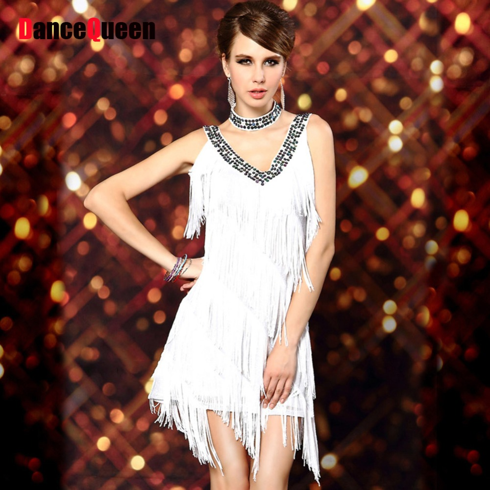 Gatsby Dresses: √1920s Sexy V Neck Beaded Vintage Sequin Flapper Lady