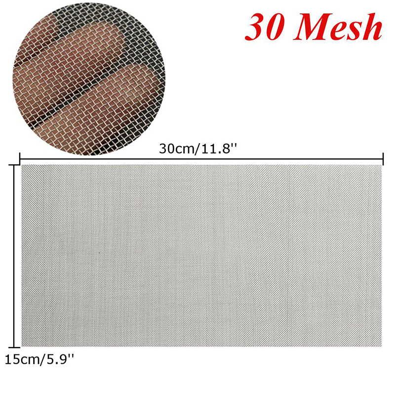 1pc 6x12\'\' Woven Wire Mesh Sheet Stainless Steel Cloth Screen Filter ...