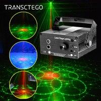 Led Disco Light Laser Party Lights DJ Stage Lighting Lamp RG 48 Patterns Sound Active Strobe Laser Projector Soundlights Lumiere
