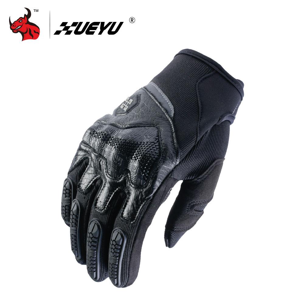 XUEYU Motorcycle Gloves Moto Motocross Gloves Men Women Off-Road Motorbike Full Finger Touch Screen Gloves Luvas Black body building sports cyling half finger gloves for women black red