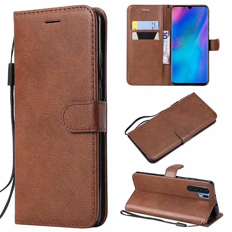100 pcs/lot Plaine classique Portefeuille en cuir cas Pour Huawei P30 pro cas TPU + PU couverture Pour Huawei P30 PRO cas coque Titulaire de la Carte livre