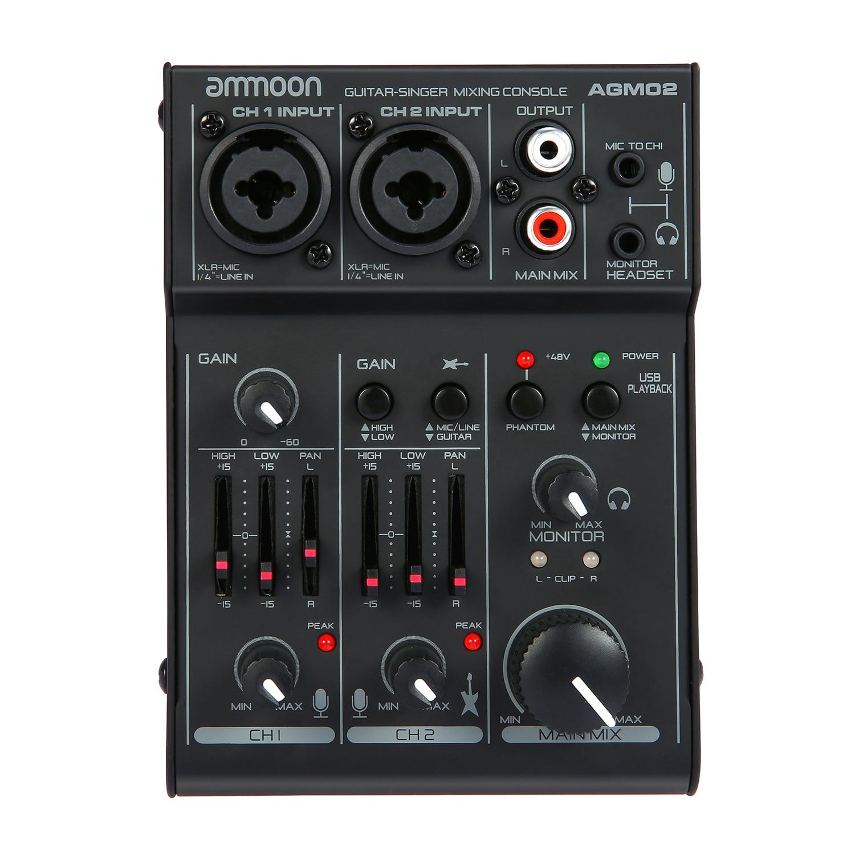 Console de mixage de carte son canal Console de mixage Audio numérique égaliseur 2 bandes intégré USB Home Studio enregistrement DJ réseau karaoké en direct