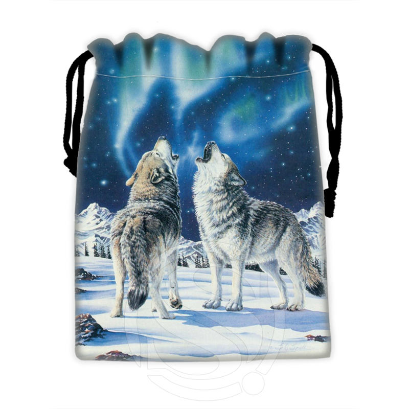 H-P831 Custom WOLF#1 Drawstring Bags For Mobile Phone Tablet PC Packaging Gift Bags18X22cm SQ00806#H0831