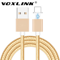 VOXLINK Magnetic Adapter Charger 2 4A 1m Micro USB Charging Data Cable For Apple IPhone 7