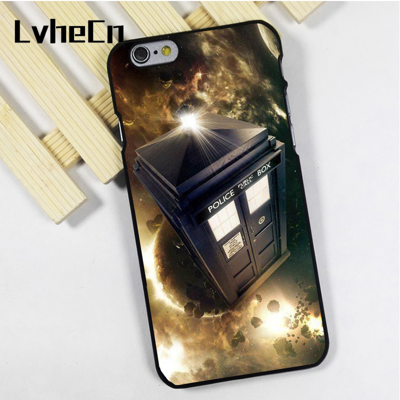 LvheCn phone case cover fit for iPhone 4 4s 5 5s 5c SE 6 6s 7 8 plus X ipod touch 4 5 6 Dr Who Tardis Epic Space Travel