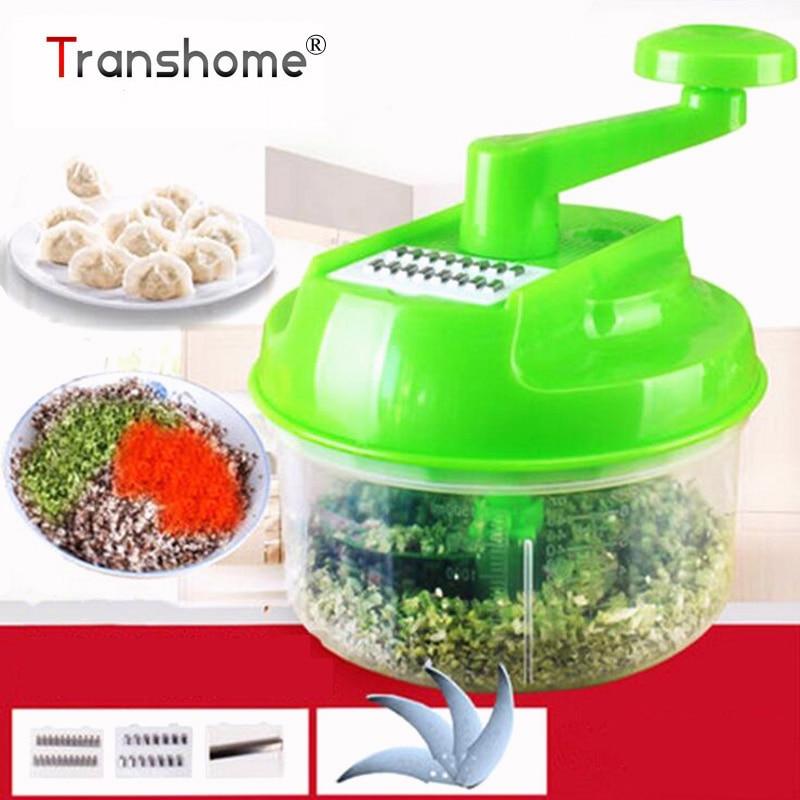 Transhome Pratical Vegetable Cutter Hand Speedy Chopper Spiral Slicer Meat Fruit Shredder Slicer Crusher Grater Kitchen Tools
