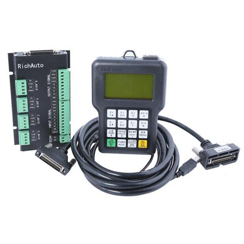 Livraison gratuite RichAuto DSP A11 CNC contrôleur en anglais 3 axes contrôleur à distance pour CNC routeur TECNR CNC DSP contrôleur