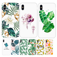 LAUGH LIFE Phone Case For iPhone 6 Fashion Summer Green Cactus Flower Design Cases Back Cover Hot Tropical Banana Leaf Shell