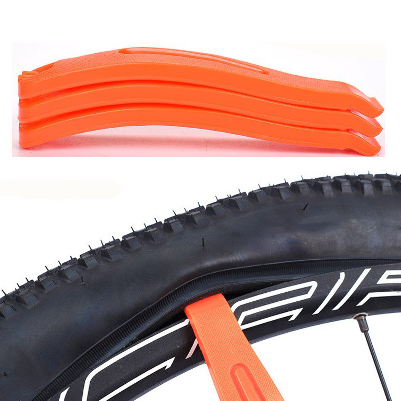 1pc Orange Bicycle Tire tyre spoon Tube Change Levers Bicycle nylon tire lever repair tool