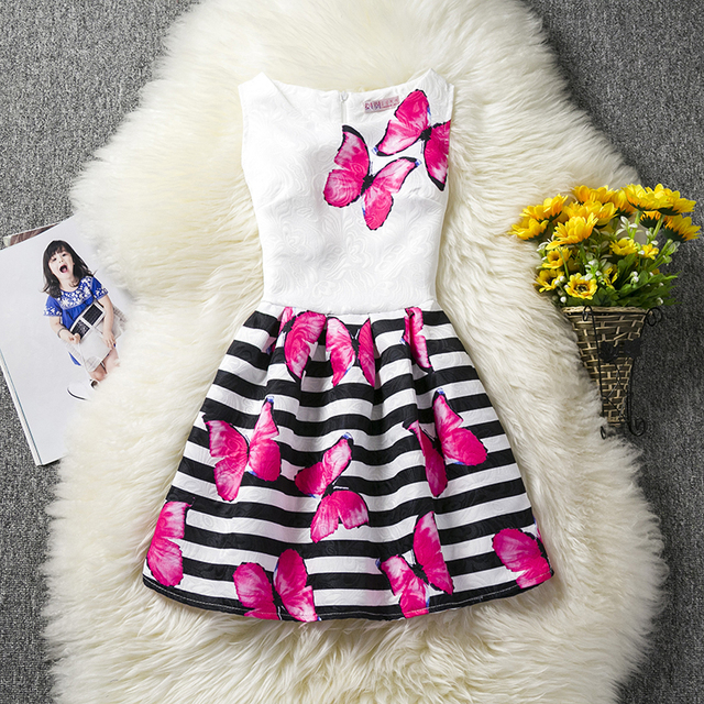 Trendy Girl Kids Summer Dresses For Girls Princess Casual Wear Baby Party Dress Children Clothes Girl Teenagers 8 10 12 Years