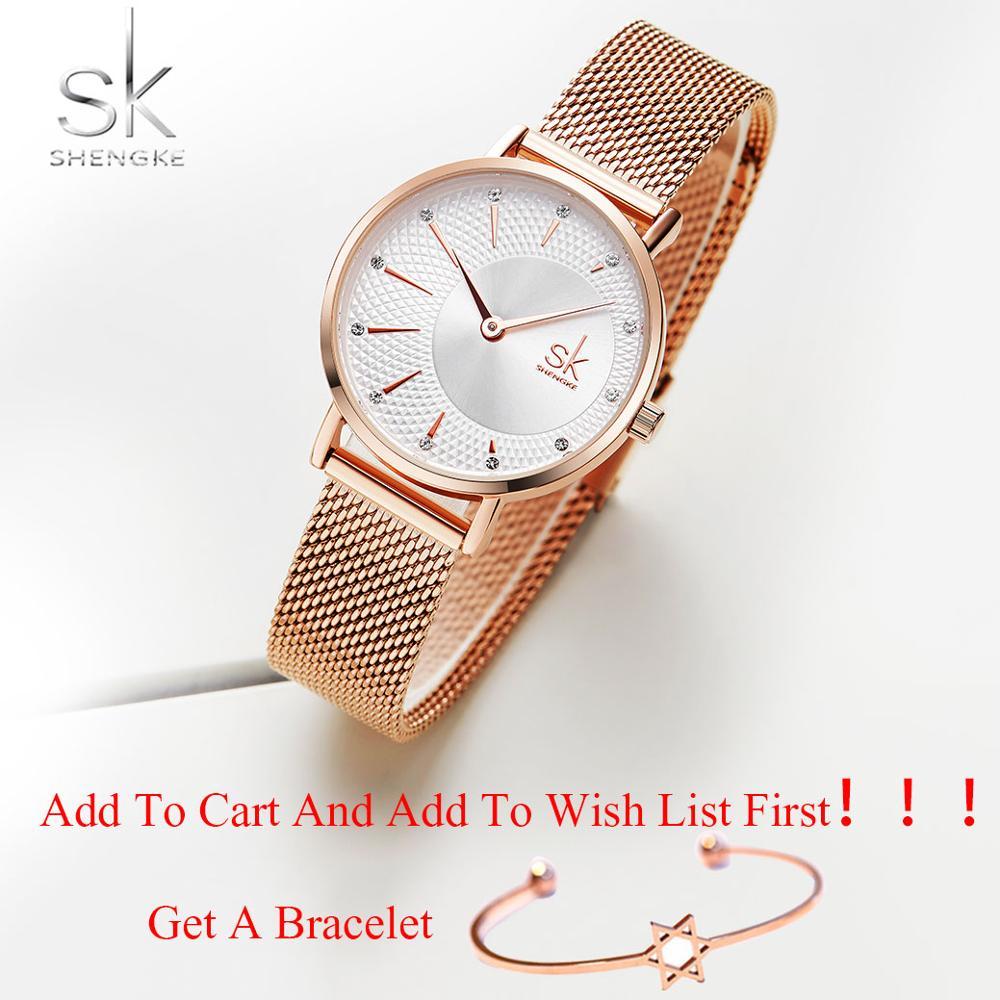 6e818145c25b 2019 Shengke moda Mujer relojes de oro rosa Reloj de cuarzo pulsera de las señoras  Reloj