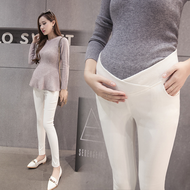 c7ad4575781 1611  Low Waist Belly Skinny Maternity Pants Summer Autumn Fashion Pencil  Pants Clothes for Pregnant Women Pregnancy Legging