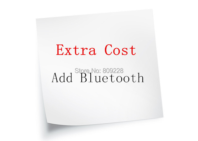 Extra cost for bluetooth