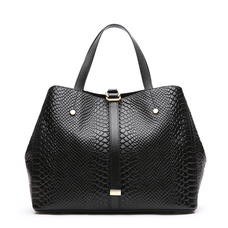 LUODUN ladies Genuine Leather bag new handbags fashion simple commuter first layer leather hand shoulder bag female big bag bag female new genuine leather handbags first layer of leather shoulder bag korean zipper small square bag mobile messenger bags