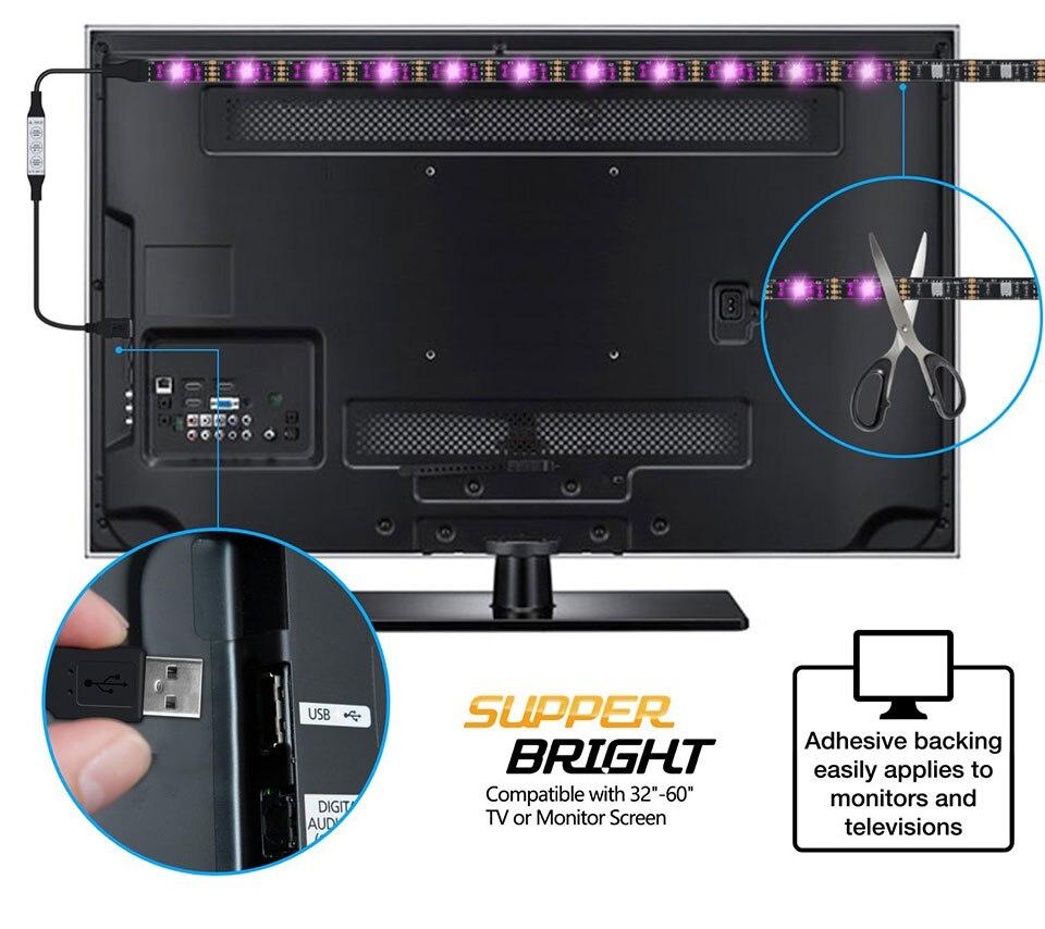 Tiras de Led tv led de iluminação 60led : 2m Led Strip